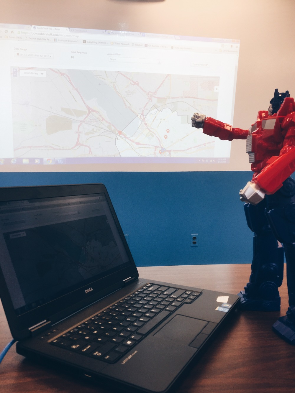 Rod was really into ArcGIS.  He helped us build the story map that we featured in one of our previous posts.
