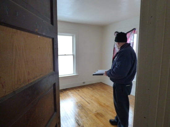 One of our inspectors re-inspecting a single-family rental, unoccupied at the time of inspection.
