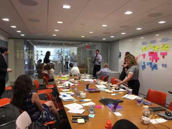 Work-shopping at Bloomberg Philanthropies & Behavioral Insights Team i-teams training session
