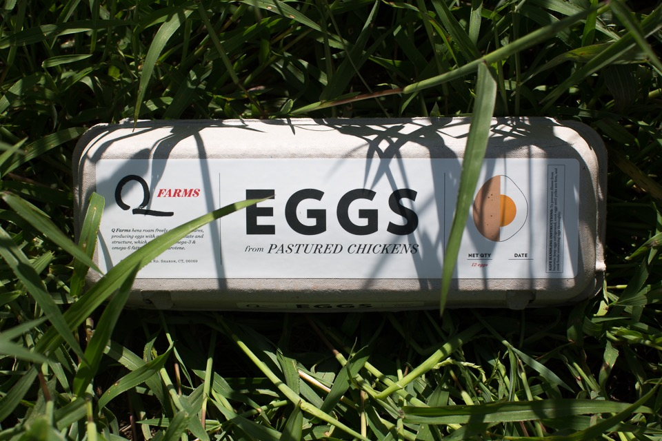 Q Farms hens roam freely on our pastures, producing eggs with an excellent taste and structure, which are high in omega-3 & omega-6 fatty acids and beta carotene.