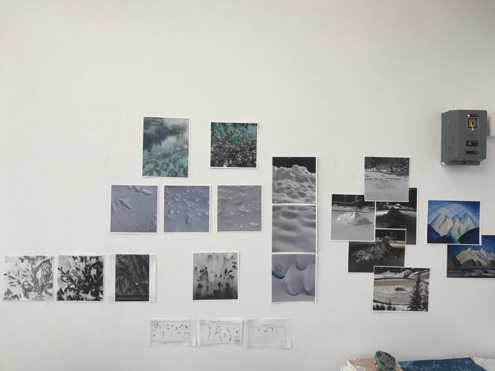 studio wall, Banff Centre