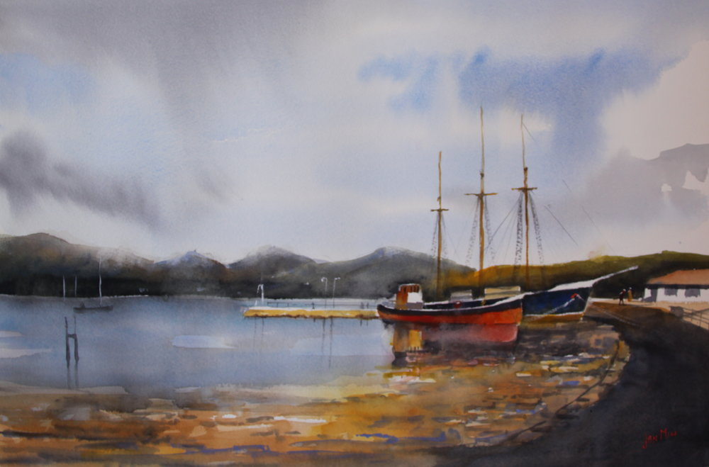 JanMin_boatreflections_ 40 x 60,watercolor,€ 850.JPG