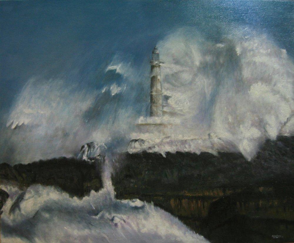 """""""MAR DE FONDO"""" (Faro de la Isla de Muro Santander)"""