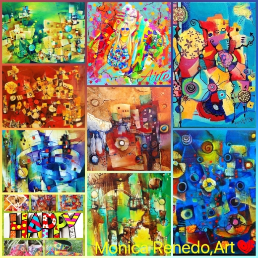 Fragmentos de Obras Abstractas. By Monica Renedo, Art