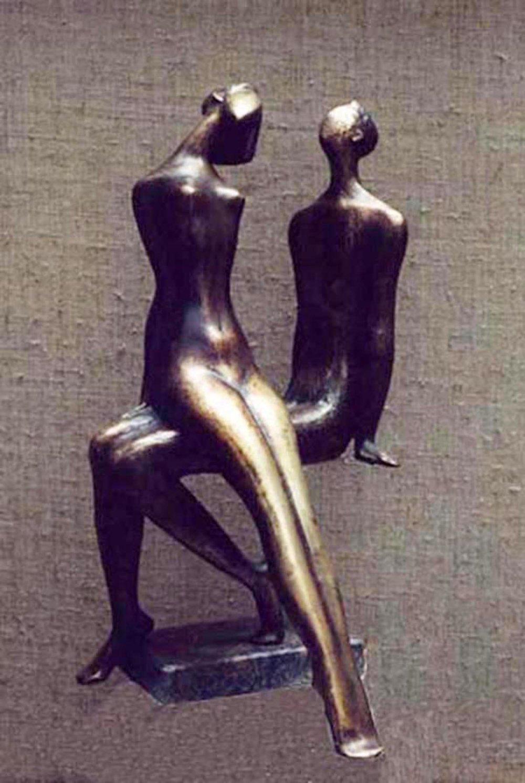 21.I am and SHE1997 year. bronze 45X25X22cm. 9500 $.jpg