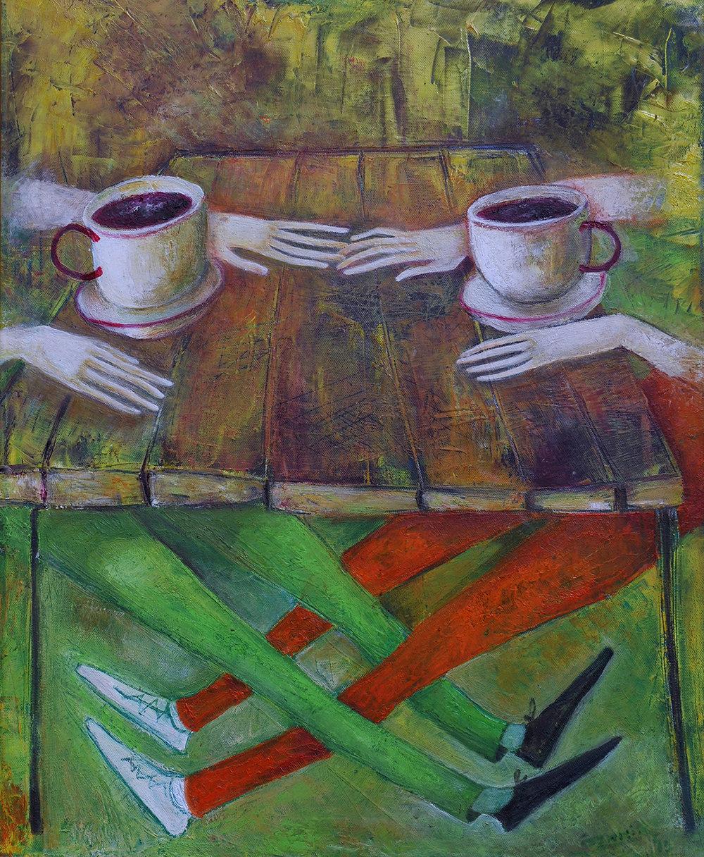 19..Kafe 2013 year Original Painting Oil on Canvas  55x45cm3500$.JPG