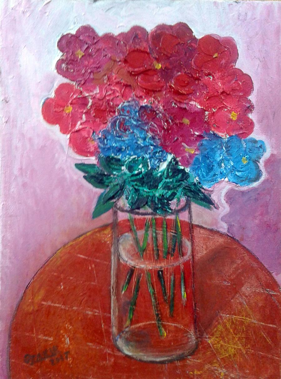 21.Autumn flowers2017year oil on canvas 40X30 cm1500$.jpg