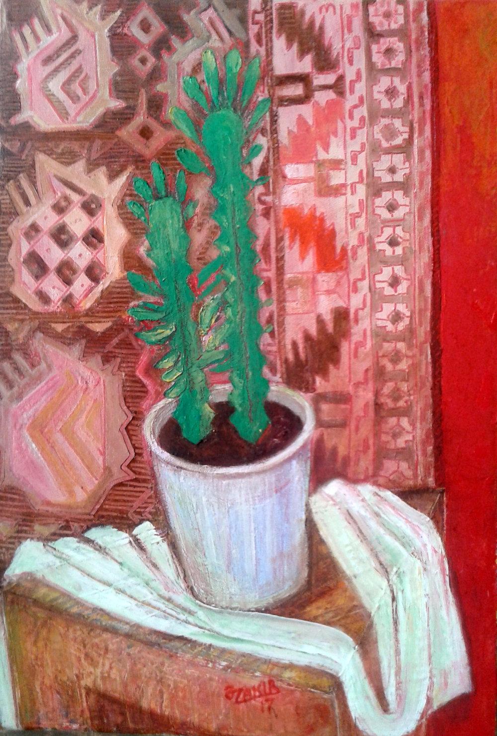 36.Cactus.2017 year  Original Painting Oil on Canvas 50 x 35 cm.1500$.jpg