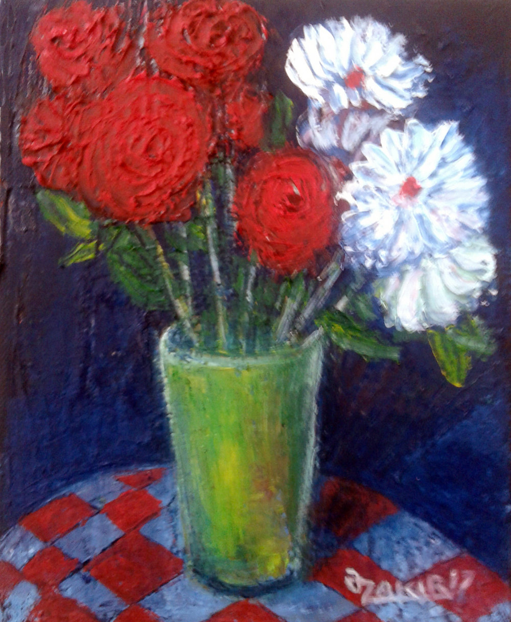 37.Red white 2017year 25x20cmOriginal Painting Oil on Canvas1000$.jpg