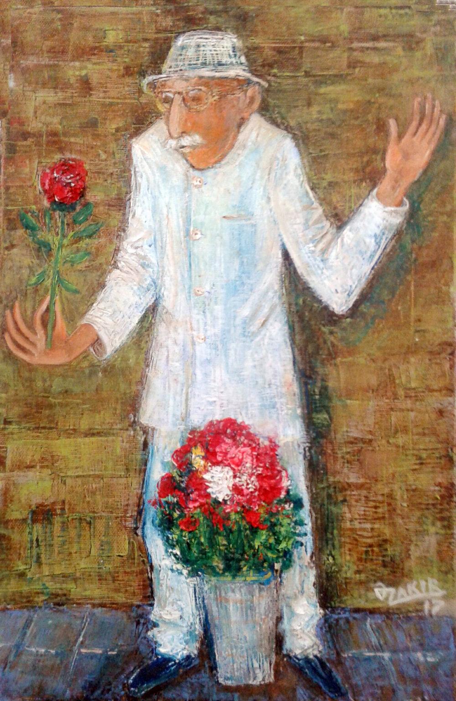 41Flower seller2017year 45x30cmOriginal Painting Oil on Canvas2500$.jpg