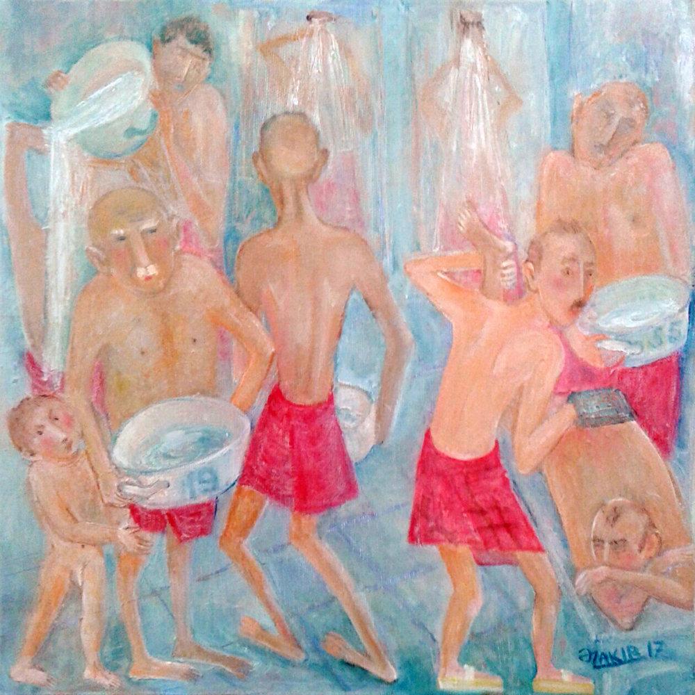 46.Turkish bath 2017year 40x40cm Original Painting Oil on Canvas2500$.jpg