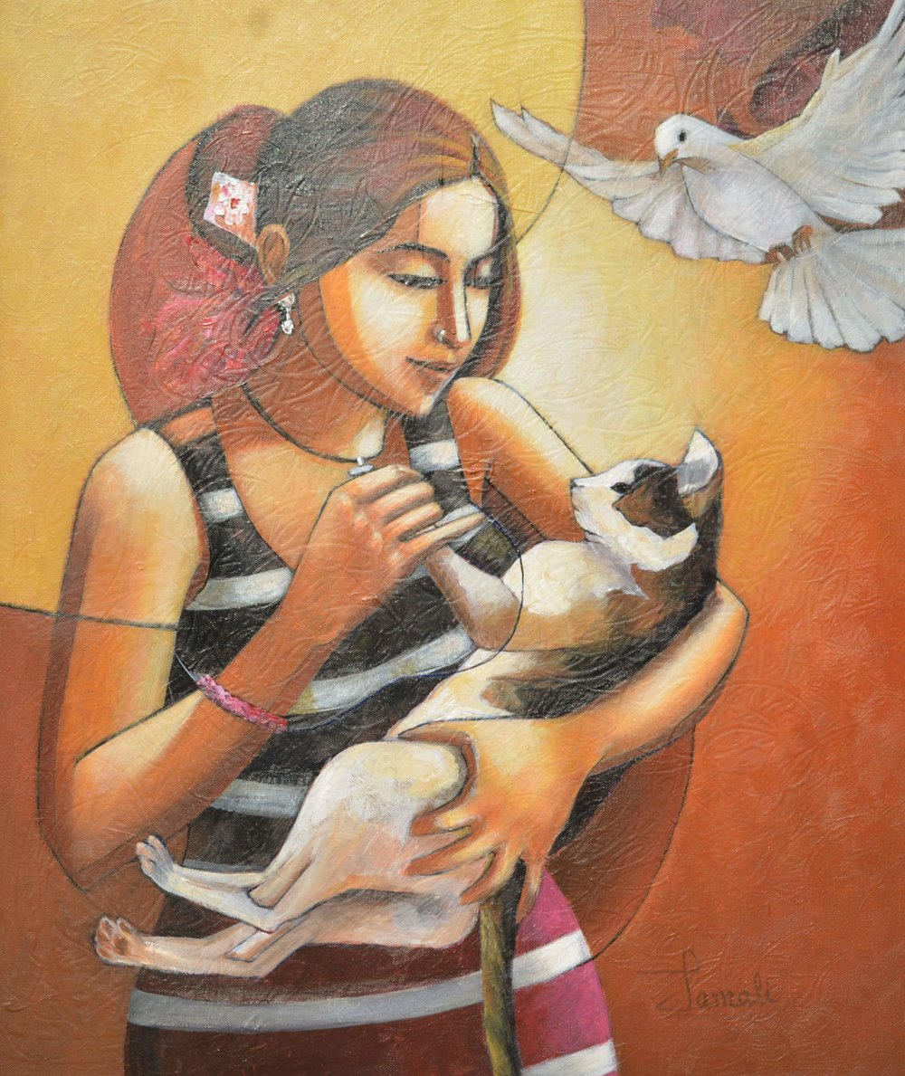 """""""GIRL WITH CAT 2"""""""