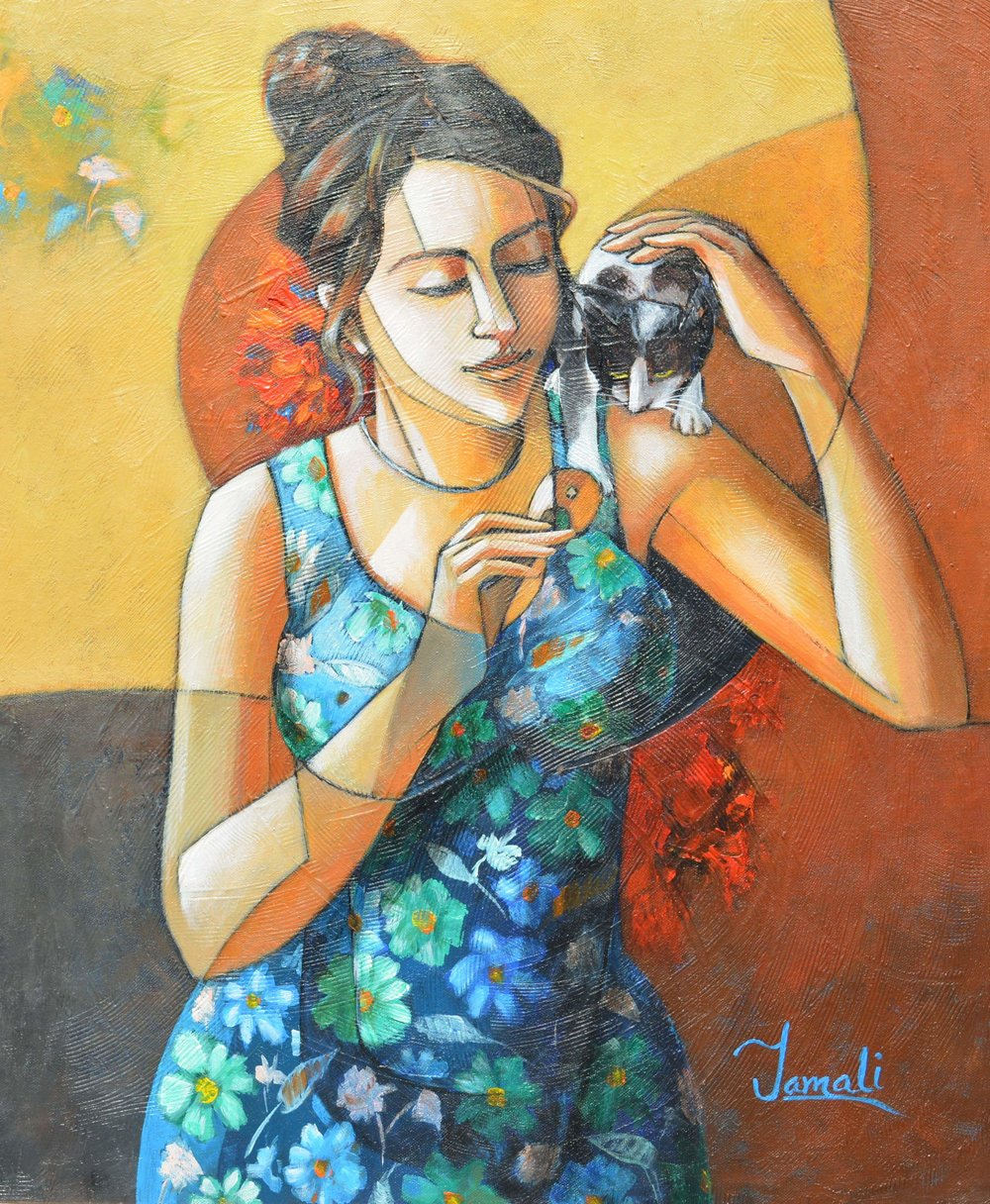 """GIRL WITH CAT 3"""