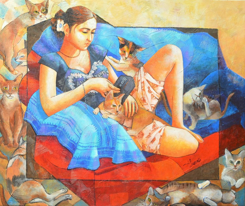 """GIRL WITH CAT 4"""