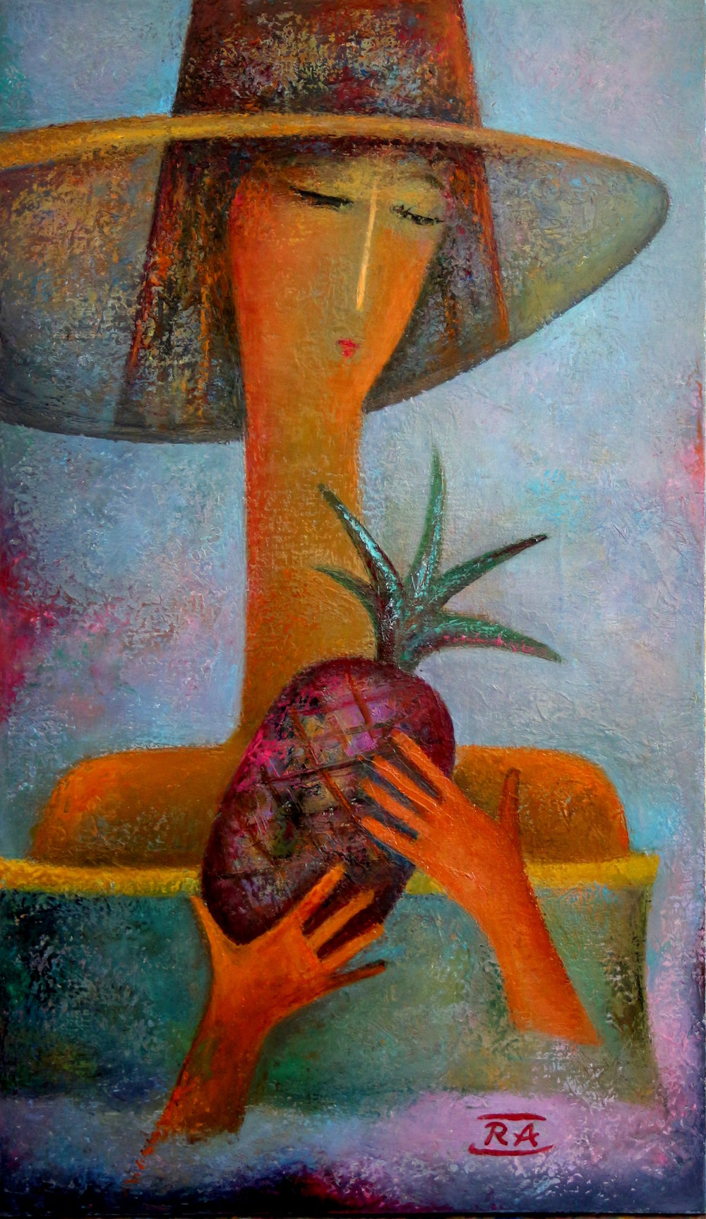 """GIRL WITH PINEAPPLE"""