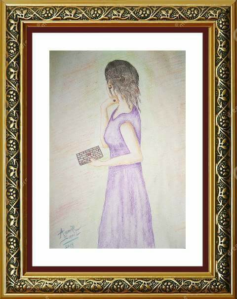 Color pencil work on scholar paper    size 8 x 10 inches    Price: 2500 us dollars