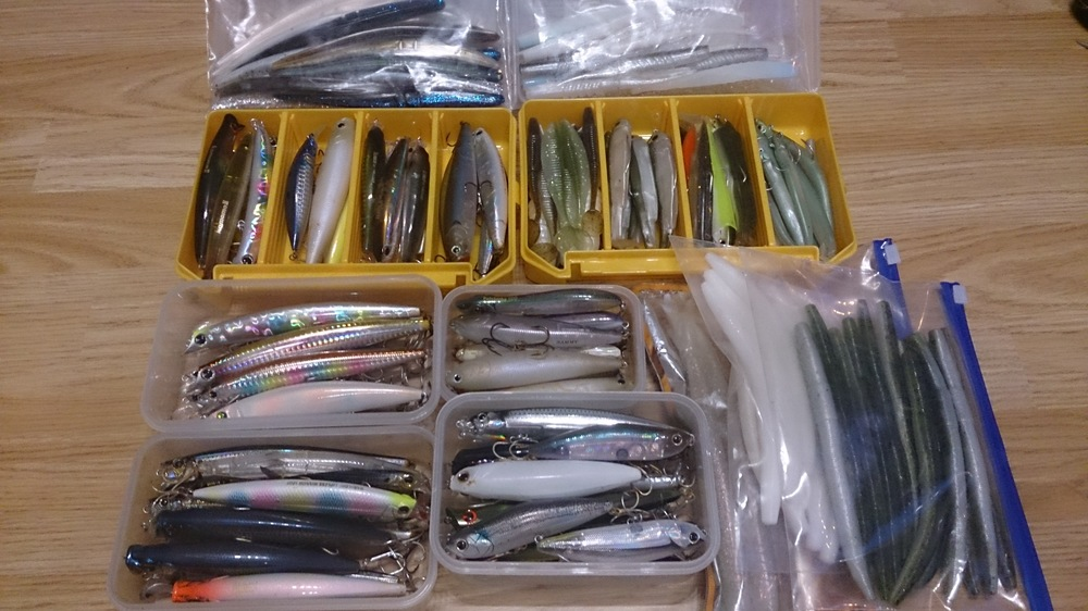 Lures all sorted, ready to go!