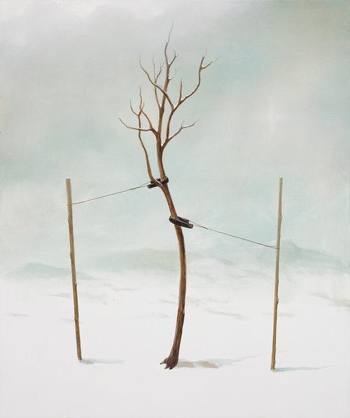 """The Sapling, 72""""x60"""", acrylic on canvas"""