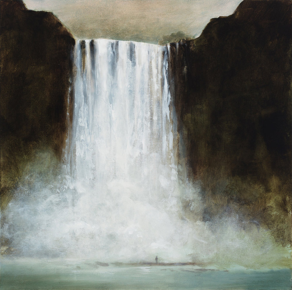 "The Falls, 24""x24"", acrylic on canvas"
