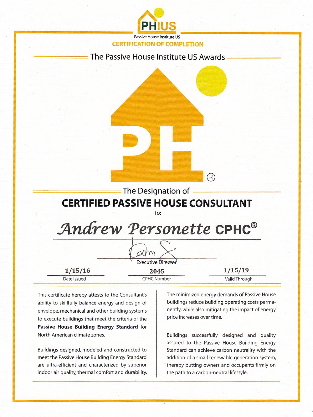 Passive House Consultant Certification