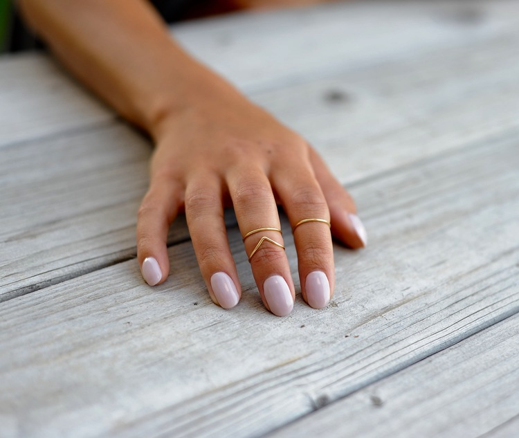 midi rings set of 3 simple boho chic knuckle rings prickly hearts