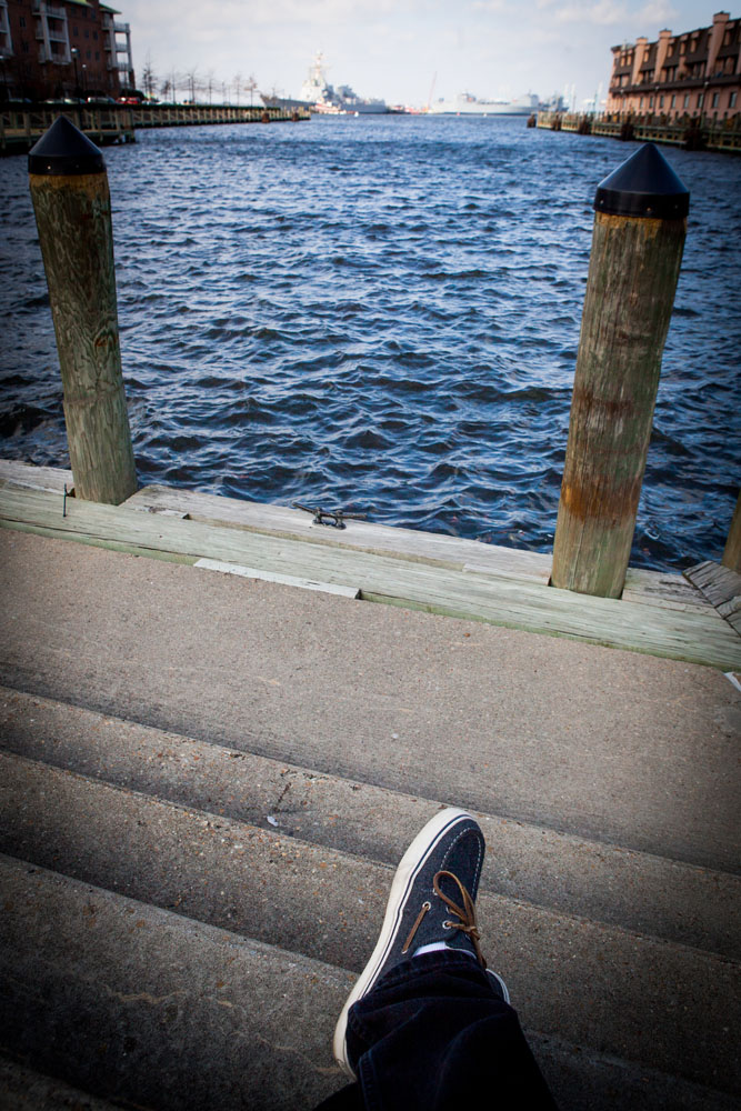 Walking around Norfolk, VA in my Sperry Topsiders