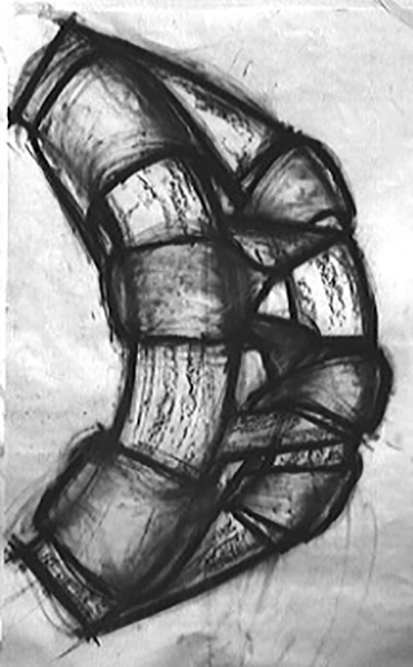 Untitled . Charcoal on paper 94 x 66 inches