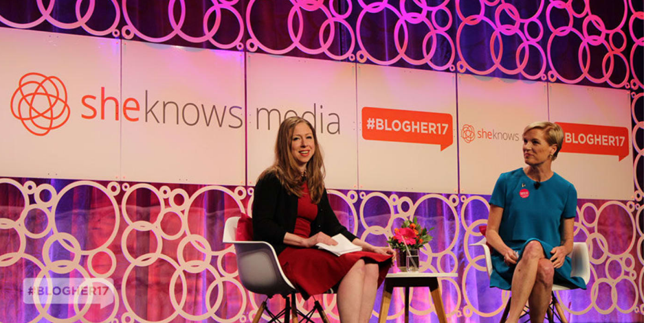 Chelsea Clinton & Cecile Richards at Blogher Conference