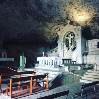 the grotto of Mary Magdelene in St. Baume, France