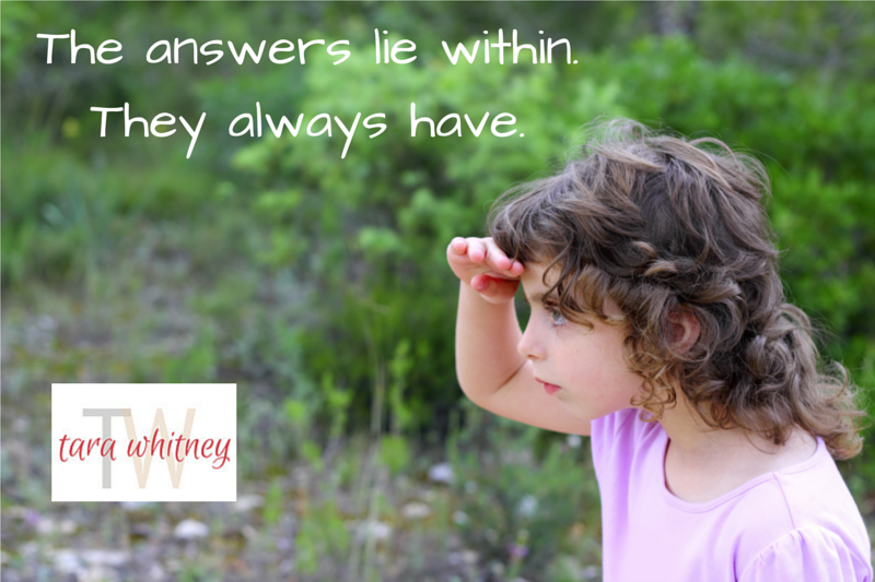 The Answers Lie Within.