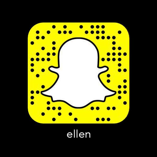 Ellen_Snapchat_snapcode_celebrity