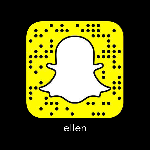 Ellen_Snapchat_snapcode_celebrity_famous