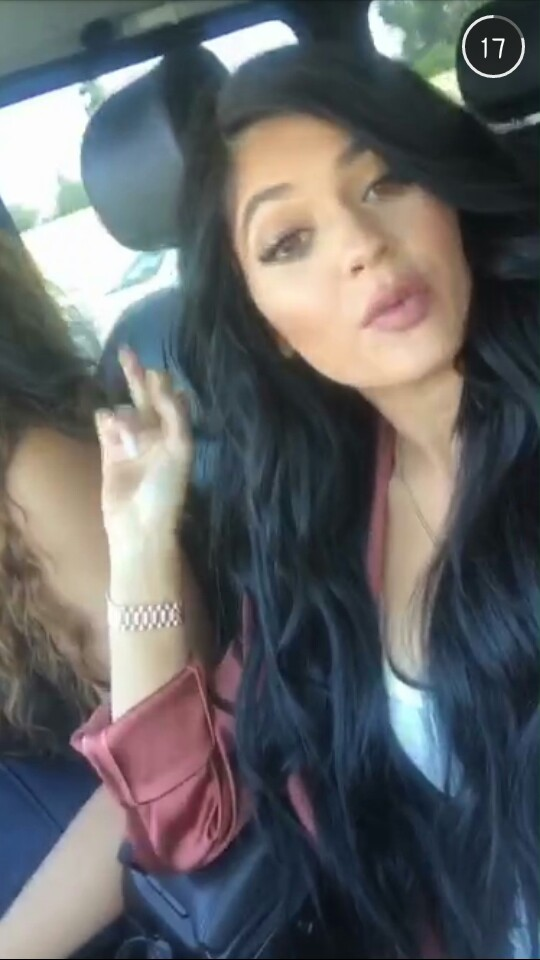 Kylie Jenner Snapchat Selfie 1