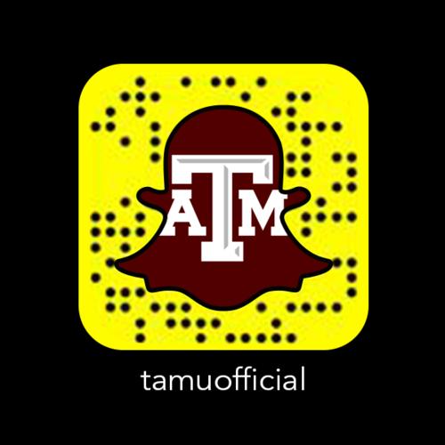 Texas A&M Snapchat Snapcode
