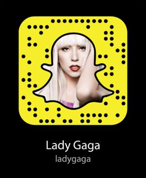 Lady Gaga Snapcode / Lady Gaga's Snapchat Username: ladygaga