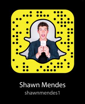 Shawn Mendes Snapcode / Shawn Mendes' Snapchat Username: shawnmendes1