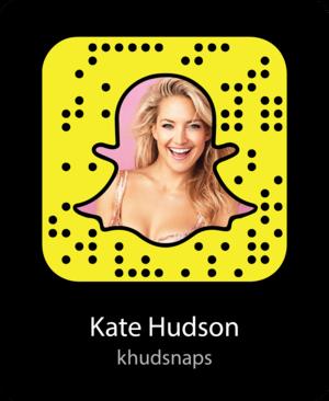 Kate Hudson Snapcode / Kate Hudson's Snapchat Username: khudsnaps
