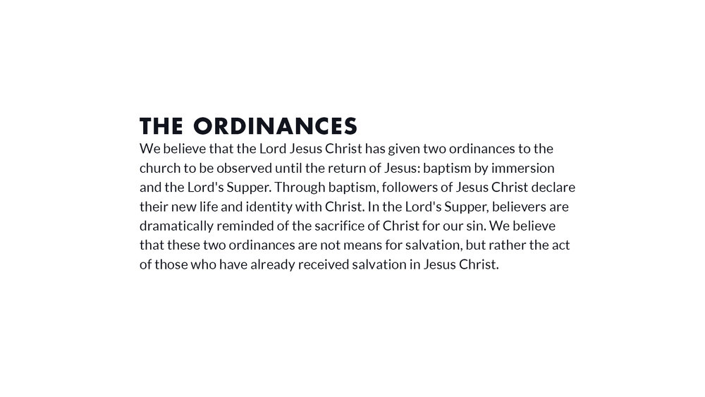 the ordinances