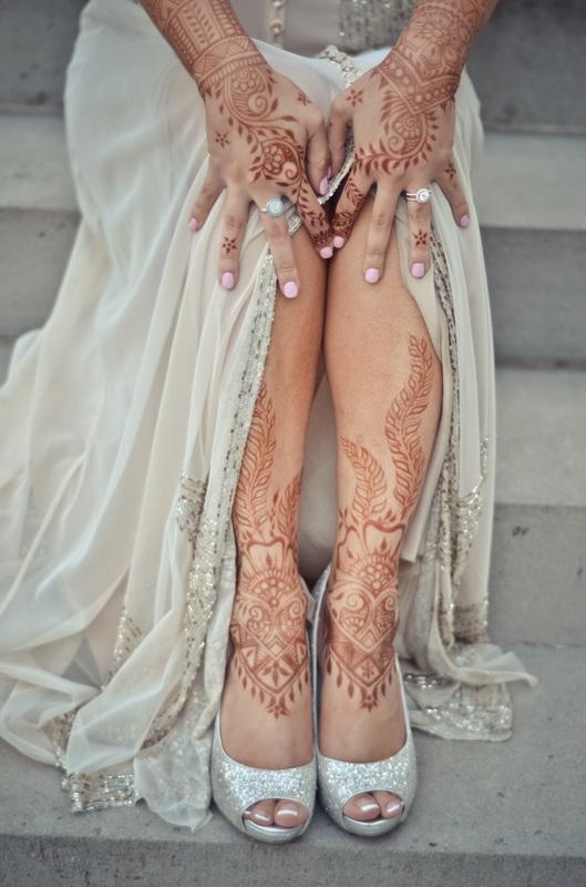 leg bridal henna
