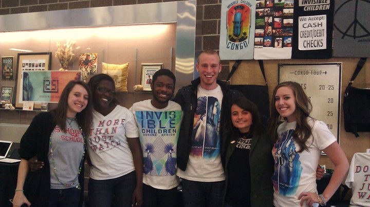Me (far Right) meeting the invisible children roadies (collines 2nd from left) in 2010 at lakewood high school. where the dream was born!