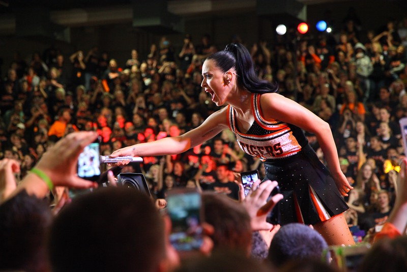 Katy Perry perfomring at LHS in 2013. Funds from roar week were donated to colorado flood victims.
