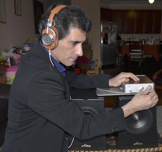 The author with his PS Audio Sprout and 'streamlined' high end system to match it. Photo credit: Mrs. Sigman