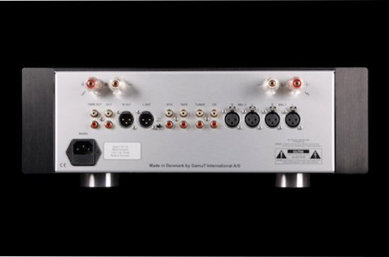 The GamuT Di150 Limited Edition Integrated Amplifier rear panel
