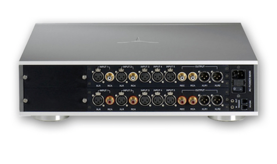 The Audia Flight Strumento n1 Stereo Pre Amplifier rear panel