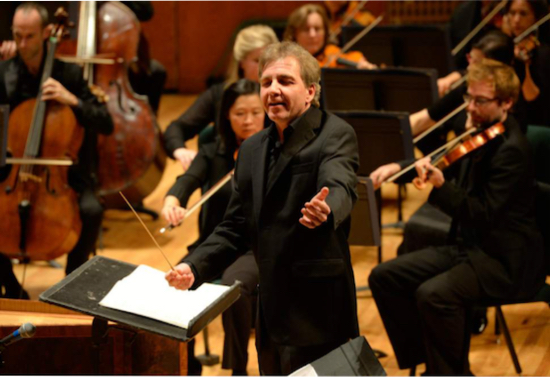 Thierry Fischer conducts the Utah Symphony. Photo credit: Rick Egan | The Salt Lake Tribune