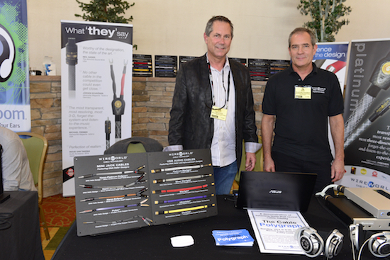 President David Salz and National Sales Manager Larry Smith showing their wares
