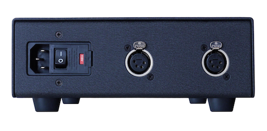 Mojo Audio Joule V Power Supply rear (in black).