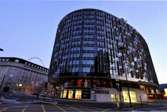 Park Plaza Westminster Bridge Hotel London.