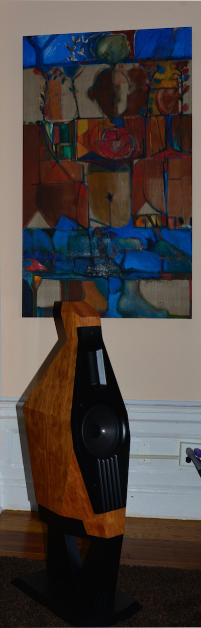 'Multiple Portrait', my Cubist work pride of place in my Manhattan apartment by my friend John Ransom Phillips.