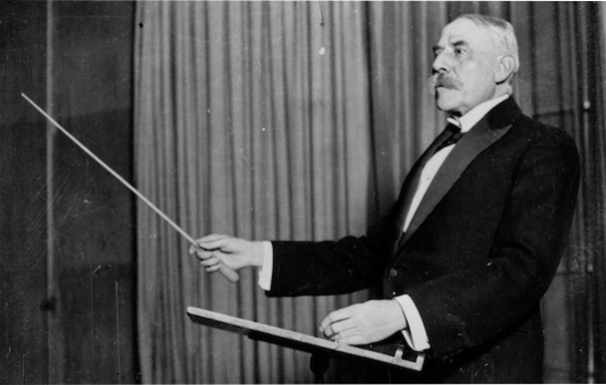 Elgar conducting. Photo credit: The Guardian.